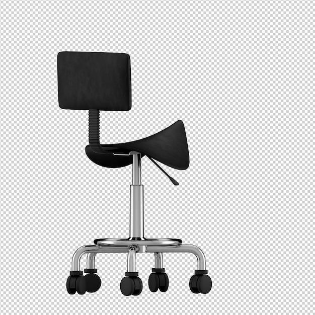 Izometryczne akcesoria kosmetyczne 3d renderowania odizolowane Premium Psd