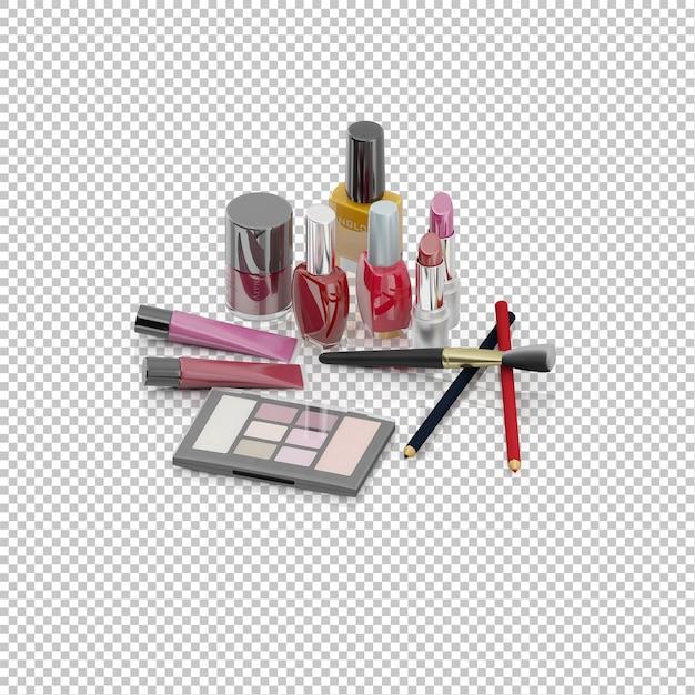 Izometryczne Kosmetyki Premium Psd