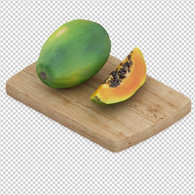 Izometryczne owoce Premium Psd
