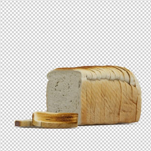 Izometryczny Chleb Premium Psd