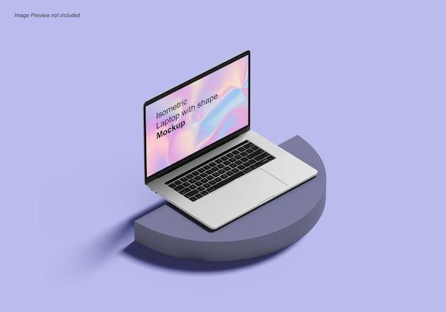 Izometryczny Laptop Z Makietą Kształtu Premium Psd