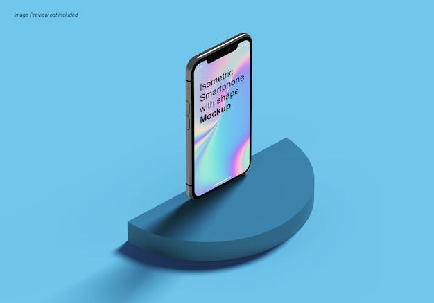 Izometryczny Smartfon Z Makietą Kształtu Premium Psd