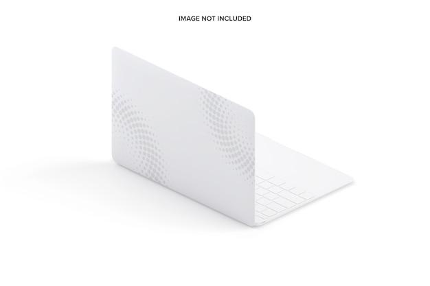 Izometryczny Widok Z Lewej Strony Makiety Laptopa Gliny Premium Psd