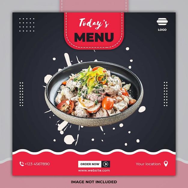 Jedzenie Menu Kulinarne Transparent Szablony Postów Mediów Społecznościowych Premium Psd