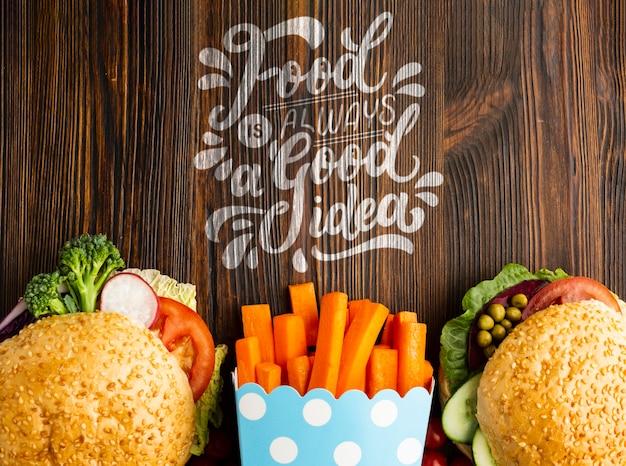 Jedzenie To Zawsze Dobry Pomysł Na Fast Food Zrobiony Z Warzyw Darmowe Psd