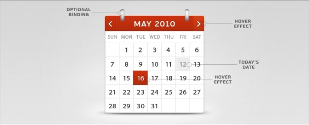 Kalendarz psd Darmowe Psd