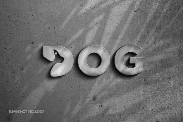 Kamienne Logo I Efekt Tekstowy Z Nakładką Cienia Premium Psd