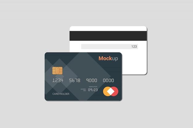 Karta Debetowa, Karta Kredytowa, Makieta Karty Inteligentnej Premium Psd