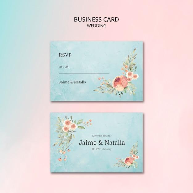 Karta piękny ślub kwiatowy zaproszenie Darmowe Psd