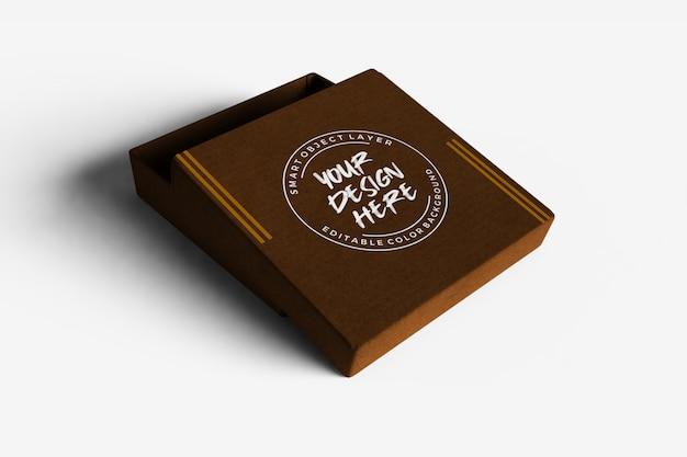 Kartonowe Pudełko Z Otwartą Makietą Premium Psd