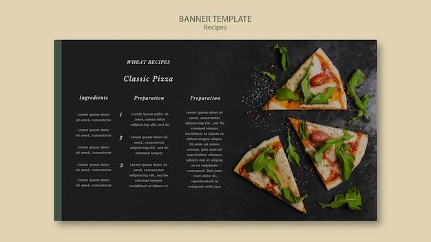 Kawałki Szablonu Sieci Web Banner Pizza Darmowe Psd