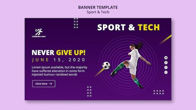 Kobieta Uderza Szablon Transparent Piłki Nożnej Darmowe Psd