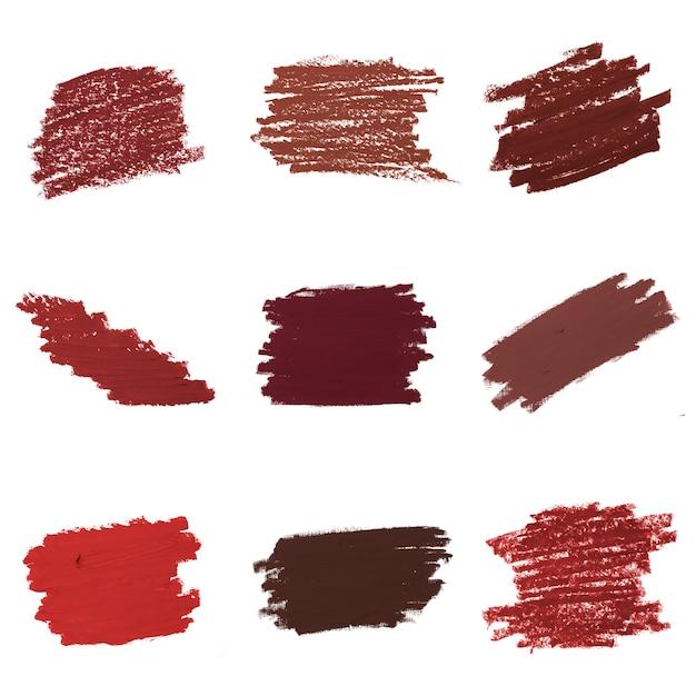 Kolekcja czerwona szminka tło Darmowe Psd