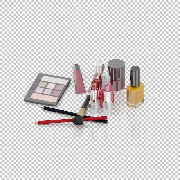 Kolekcja Elementów Izometrycznych Kosmetyków Premium Psd