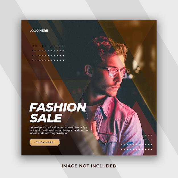 Kolekcja Modowa W Stylu Dynamicznym Oferta Wyprzedaży W Czarny Piątek Na Facebooku Premium Psd