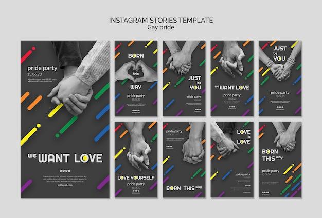 Kolekcja Opowiadań Na Instagramie Dla Dumy Gejowskiej Darmowe Psd