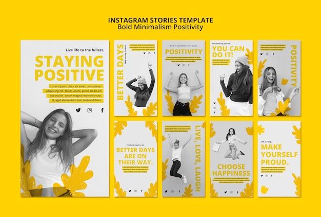 Kolekcja Opowiadań Na Instagramie Dla Pozytywizmu Darmowe Psd