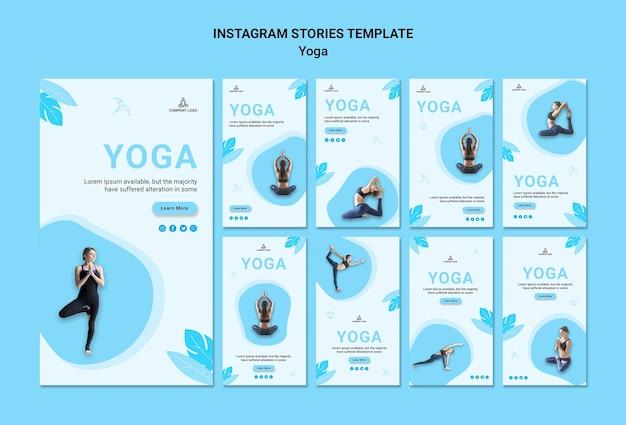 Kolekcja Opowiadań Na Instagramie Do ćwiczeń Jogi Darmowe Psd