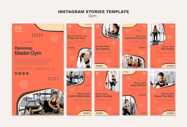 Kolekcja Opowiadań Na Instagramie Do ćwiczeń Na Siłowni Darmowe Psd