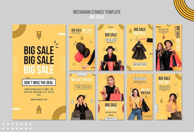 Kolekcja Opowiadań Na Instagramie Na Dużą Sprzedaż Premium Psd