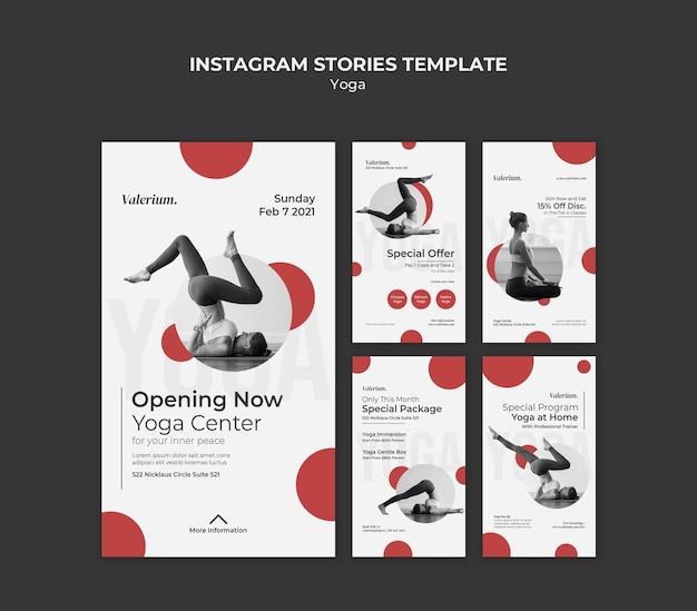 Kolekcja Opowiadań Na Instagramie Na Zajęcia Jogi Z Instruktorką Premium Psd