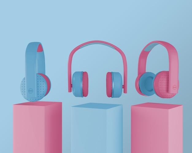 Kolekcja Słuchawek Z Lat 80 Darmowe Psd