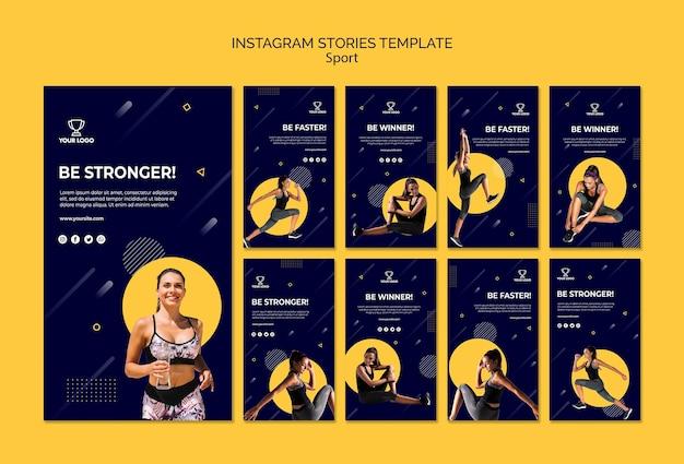Kolekcja Szablonów Historii Sportu Instagram Darmowe Psd