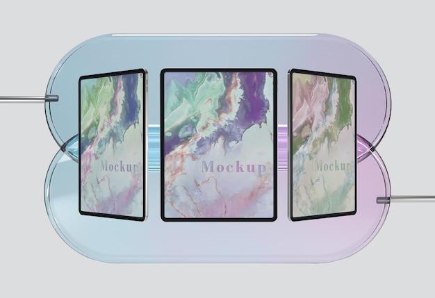 Kolekcja Tabletów Ze Szklanym Wspornikiem Darmowe Psd