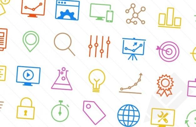 Kolorowe Ikony Seo Darmowe Psd