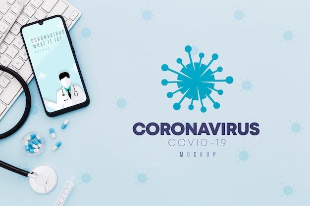 Koncepcja Koronawirusa Biurko Medyczne Darmowe Psd