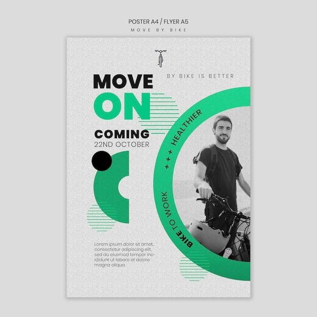 Koncepcja Plakatu Poruszania Się Rowerem Darmowe Psd
