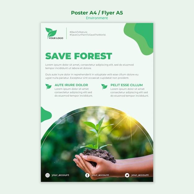Koncepcja Szablon Plakat Ekologiczny Darmowe Psd