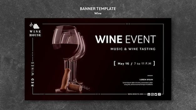 Koncepcja Szablon Transparent Wino Darmowe Psd