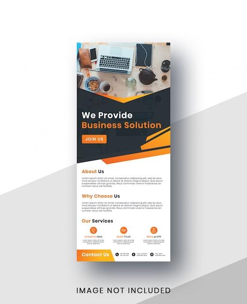 Korporacyjny Rzutowany Szablon Transparent Premium Psd