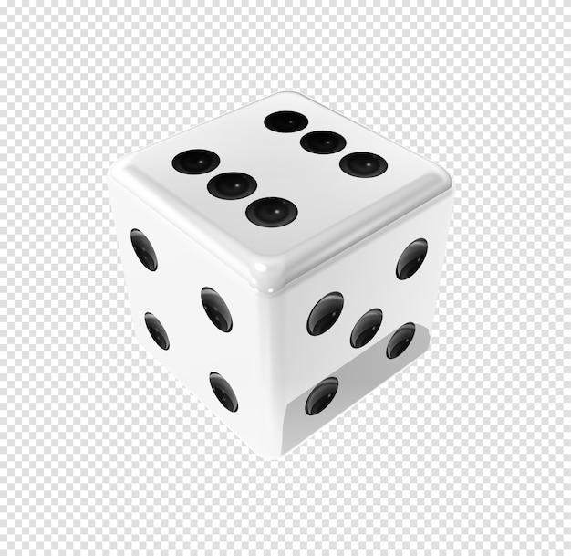 Kości 3d Wygrywające Białe Premium Psd