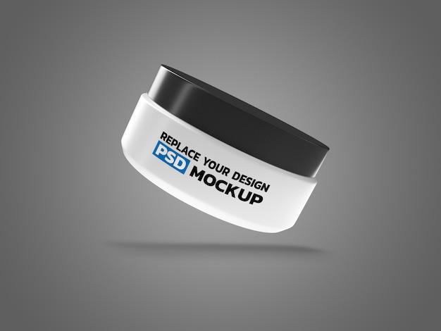 Kosmetyczne Pudełko Kremowe Renderowania 3d Makieta Premium Psd