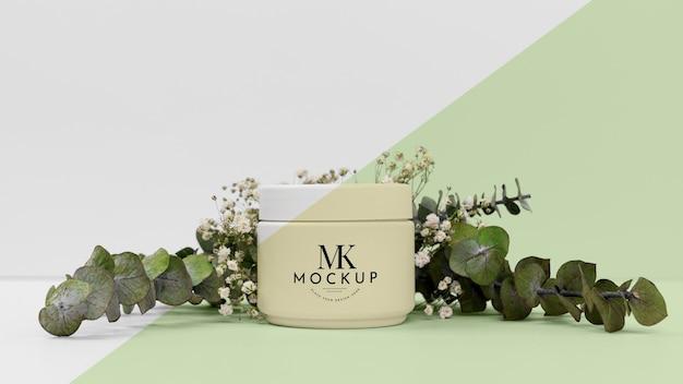 Kosmetyk Krem Z Rośliną Premium Psd