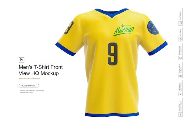 Koszulka męska makieta widok z przodu hq Premium Psd