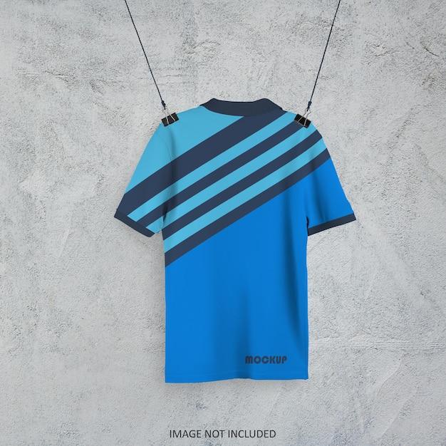 Koszulka Polo Makieta Projekt Na Białym Tle Premium Psd