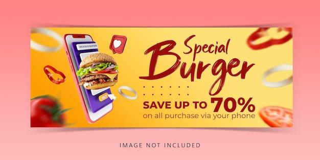 Kreatywna Koncepcja Burger Menu Marketing Promocyjny Szablon Premium Psd