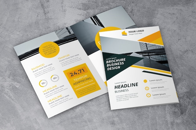 Kreatywna makieta broszury Darmowe Psd