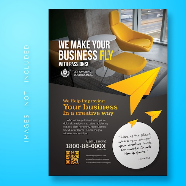 Kreatywna ulotka biznesowa Premium Psd