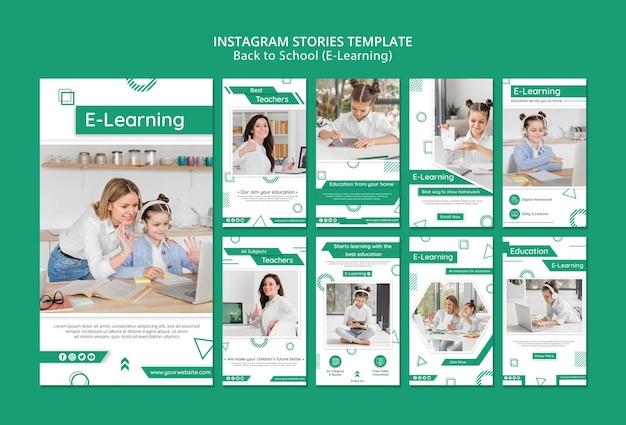 Kreatywne Historie E-learningowe W Mediach Społecznościowych Darmowe Psd
