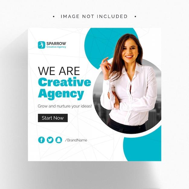 Kreatywny Biznes Baner Społecznościowy Premium Psd