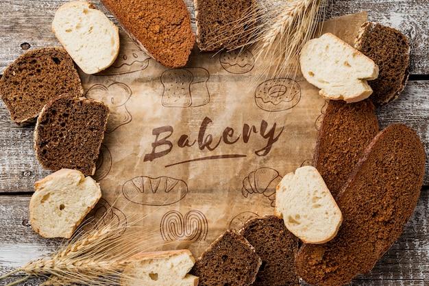 Kromki Chleba Na Stole Darmowe Psd