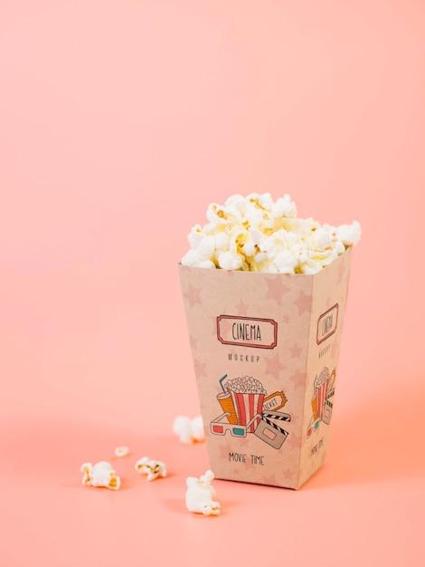 Kubek Z Popcornem Do Kina Darmowe Psd