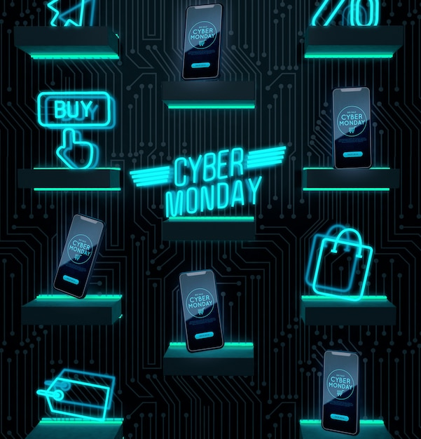 Kup teraz ofertę urządzeń elektronicznych poniedziałek cyber Darmowe Psd