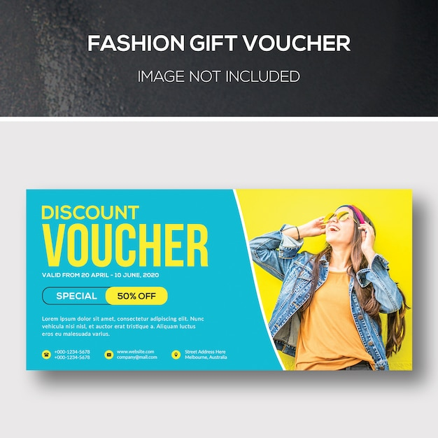 Kupon Podarunkowy Fashion Premium Psd