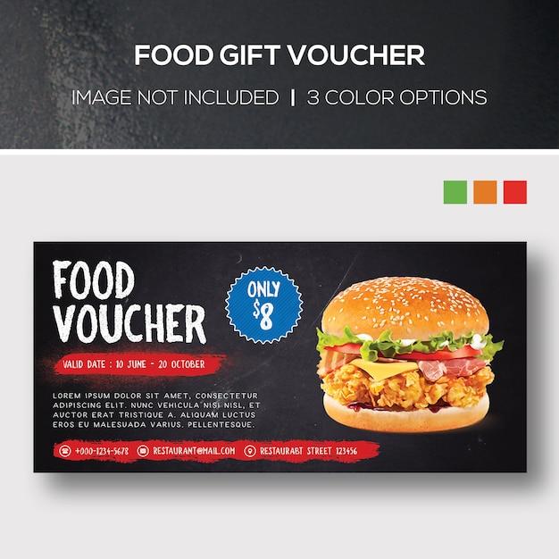 Kupon Podarunkowy Na żywność Premium Psd