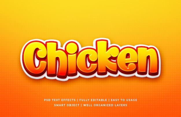 Kurczak Gra 3d Efekt Stylu Tekstu Premium Psd